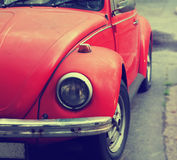 Old red car close-up Stock Image