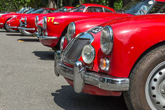 Old red car Royalty Free Stock Images