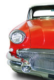 Old red car isolated Royalty Free Stock Photography