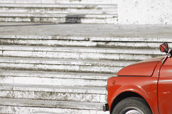 Old red car. An old italian red car Royalty Free Stock Photos