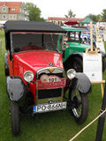 Old red car, BMW Dixi. Old restored beauty BMW 3/15PS DA2 DIXI Royalty Free Stock Image