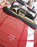 Old red Jaguar E-Type. Old restored beauty red cabrio Jaguar E-Type 4.2 Royalty Free Stock Photos