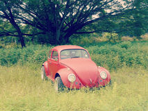 Old Red Car Royalty Free Stock Photos