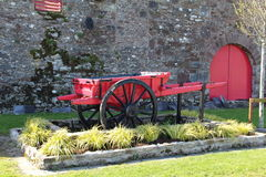 An old red cart Stock Photography