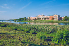 Old red castle in Jelgava, Latvia. Royalty Free Stock Images