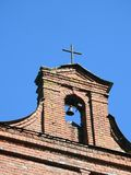 Old red catholic church tower, Lithuania Royalty Free Stock Images