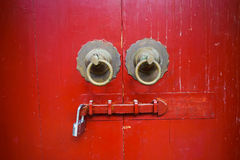 Old red chinese door Stock Image