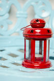 Old red christmas lamp. For Christmas winter and cold time Royalty Free Stock Images