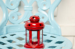 Old red christmas lamp Stock Images
