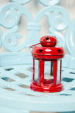 Old red christmas lamp. For Christmas winter and cold time Royalty Free Stock Image