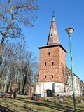Old red church, Lithuania Royalty Free Stock Photography