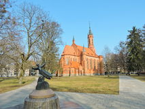 Old red church, Lithuania Stock Image
