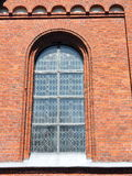Old red  church window , Lithuania Stock Photos