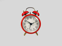Old red clock Stock Image