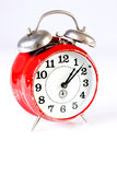Old Red Clock Stock Photography