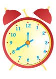 Old Red Clock. A  illustration of an old red and yellow clock Royalty Free Stock Photography