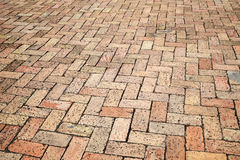 Old red cobblestone pavement, background Royalty Free Stock Photos