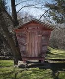 Old Red Corn Crib Royalty Free Stock Images