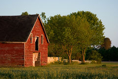 Old red country barn stock image