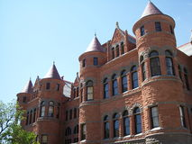 Old red courthouse. Front view of historic dallas county courthouse stock photography