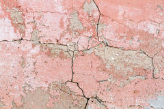 Old red cracked concrete background Royalty Free Stock Photos