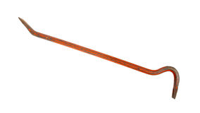 Old red crowbar Royalty Free Stock Photos