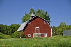 Old red dairy barn Stock Image