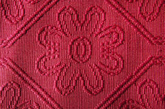 Old red damask Stock Photos