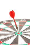 Old red dart point to target Royalty Free Stock Photo