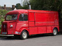 Old red delivery and ice cream truck Royalty Free Stock Photos