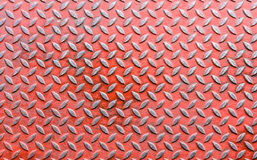 Old red diamond metal sheet Royalty Free Stock Photo