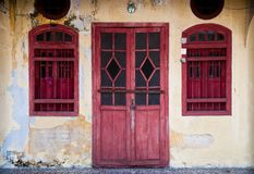 Old red door Royalty Free Stock Images