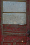 Old Red Door on Abandoned Building Stock Images
