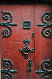 Old Red Door, Normandy, France Royalty Free Stock Photography