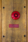 Old red doorbell Royalty Free Stock Photos