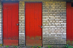 Old red doors Royalty Free Stock Images