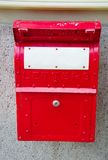 Old red english mailbox Stock Image