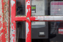 Old Red English Phone Booth United Kingdom Stock Photos