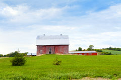 Old Red Farm Royalty Free Stock Photography