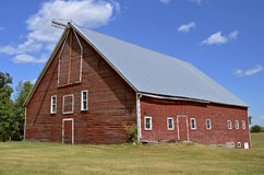 Old red farm barn Royalty Free Stock Images