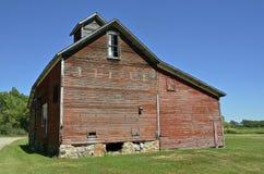 Old red farm granary Stock Photos