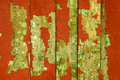 Old red fence. Stock Photo