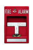 Old red fire alarm Royalty Free Stock Images