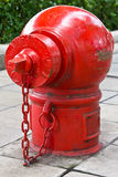 Old red fire hydrant Stock Image