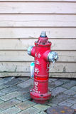 Old red fire hydrant in street - Korea Royalty Free Stock Photos
