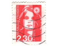 Old red french stamp Royalty Free Stock Image