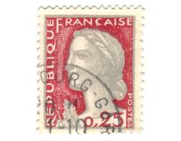 Old red french stamp Royalty Free Stock Photography