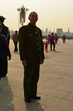 Old Red Guard Soldier in Tiananmen Square Royalty Free Stock Photos