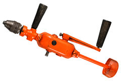 Old red hand drill Stock Image