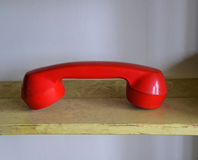 old Red Headsets Phone Royalty Free Stock Images